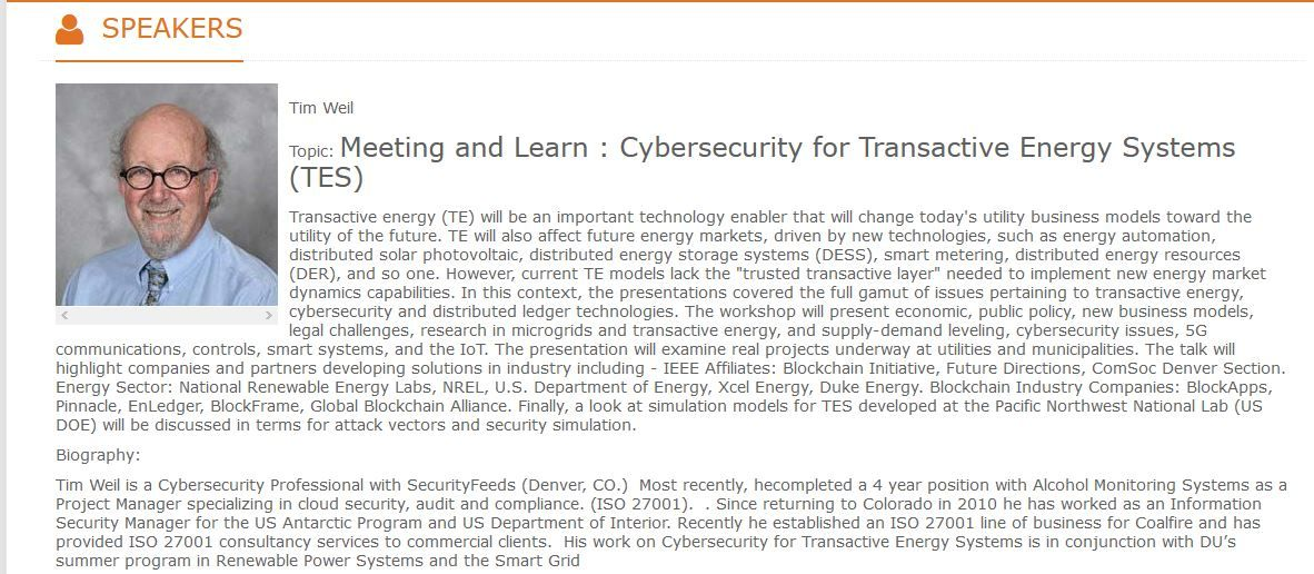 Cybersecurity for Transactive Energy Systems